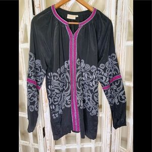 Rungolee medium zip up embroidered blouse